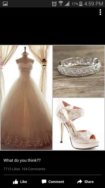 dress wedding dress wedding ring wedding shoes