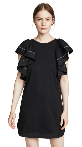 dress ruffle black