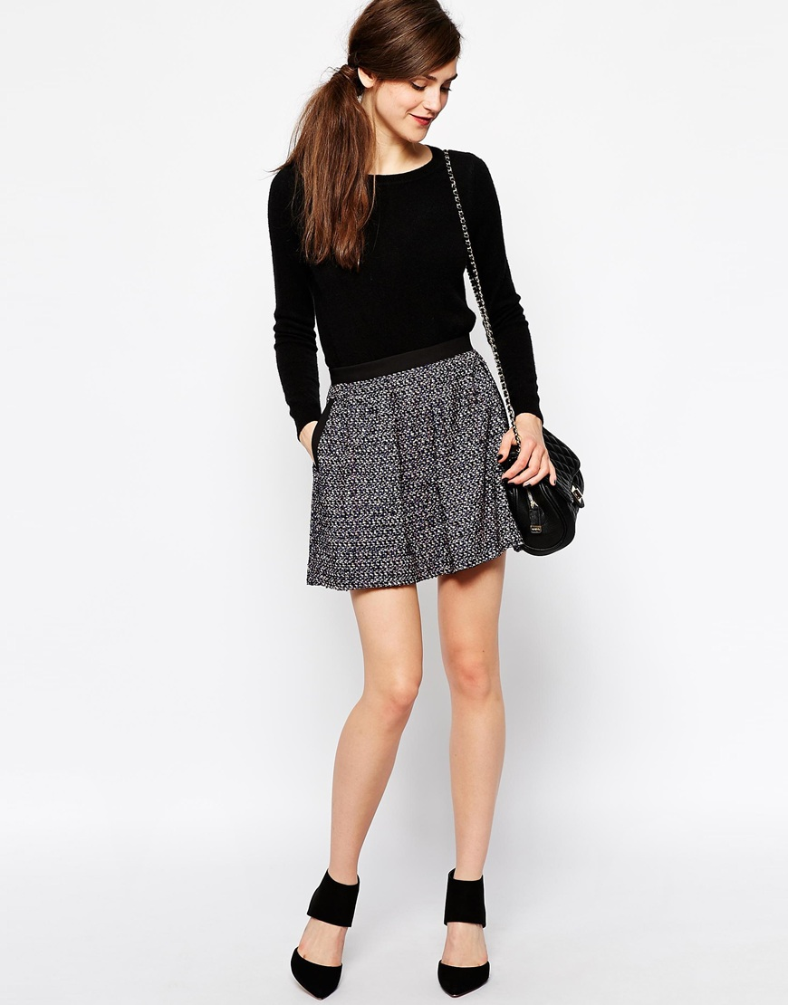 French Connection Malik Skirt in Mohair at asos.com