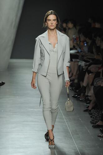 jacket pants fashion week 2014 alessandra ambrosio