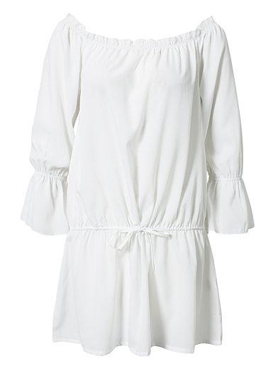 Off - Shoulder 3/4 Dress - Notion 1.3 - Wit - Doordeweekse Jurken - Kleding - Vrouw - Nelly.com