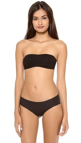 bra bandeau bra black underwear