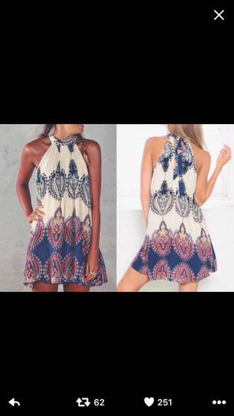 dress boho dress bohemian summer cute dress