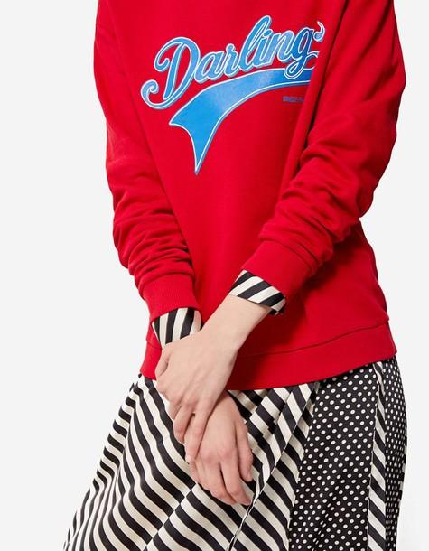 Stradivarius sweatshirt red sweater