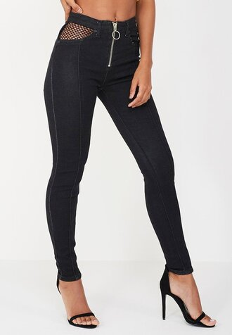 jeans zip zipped jeans black black jeans denim