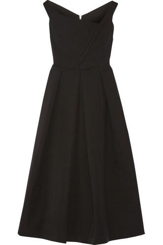 dress midi dress pleated midi black