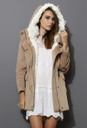 coat,belted,shearling,hooded,camel