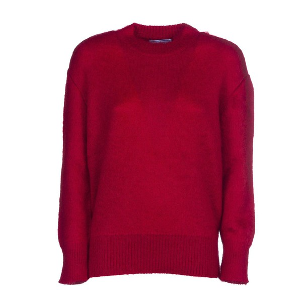 Prada jumper fluffy red sweater