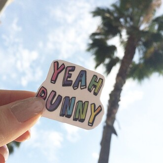 home accessory yeah bunny stickers summer tumblr