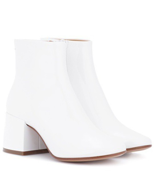 Mm6 Maison Margiela leather ankle boots ankle boots leather white shoes