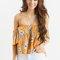 Felicity orange floral off the shoulder top - morning lavender