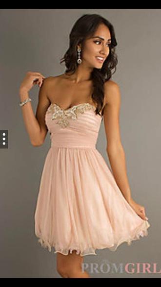 dress rose gold prom dress