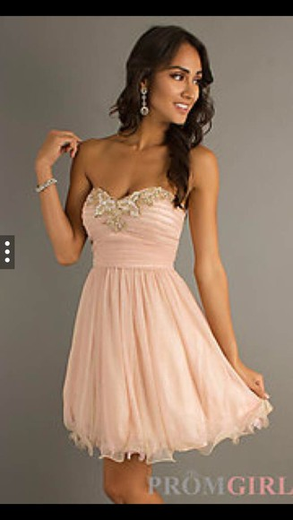 dress rose gold prom dress