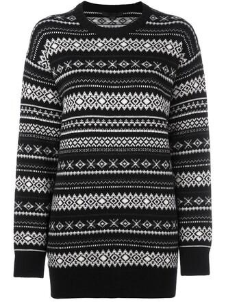jumper knit women black wool sweater