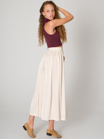 Accordion-Pleat Skirt | Long | Women's Skirts | American Apparel