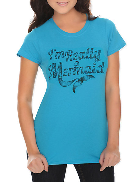 Really A Mermaid Girls T-Shirt | Hot Topic