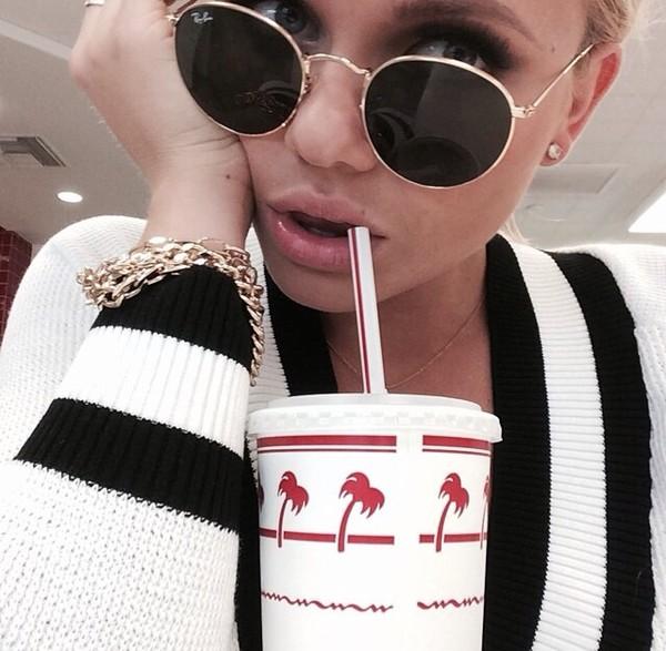 sunglasses rayban alli simpson gold
