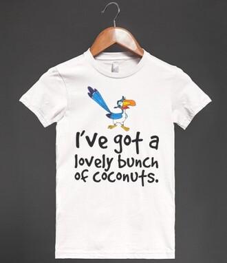 t-shirt disney coconuts aladdin disney princess funny shirt disney shirt