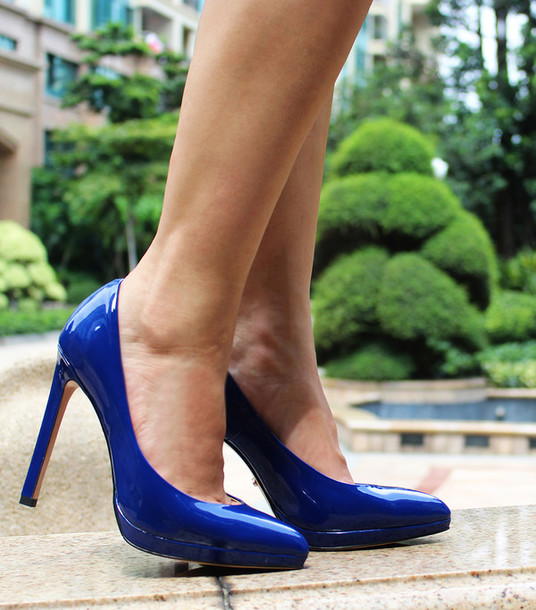 shoes high heels platform shoes medium heels fashion patent shoes blue blue  shoes platform heels stilettos
