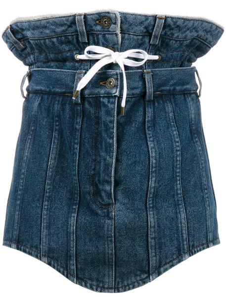 Y / Project skirt mini skirt denim mini women cotton blue