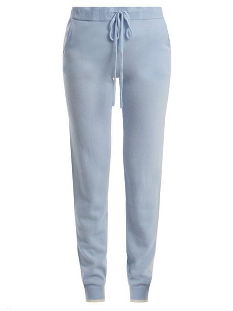 PEPPER & MAYNE drawstring light blue light blue pants