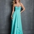 Lovely Long Blue Sweetheart Beadings Empire Chiffon Prom Dress PD11389