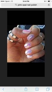 nail polish,pink mirror polish