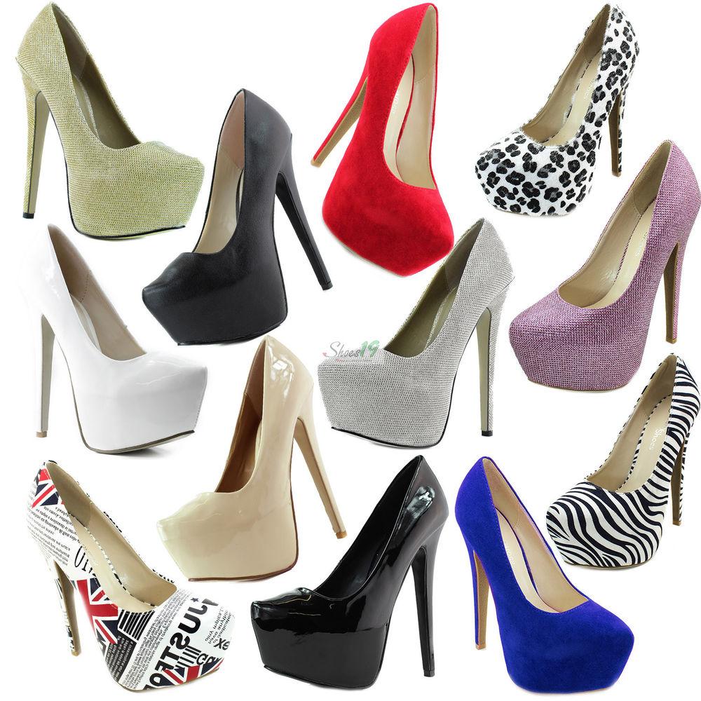 Pointy Toe Hidden Platform Stiletto Pump Wedding Bridal Club Party Dress Shoes