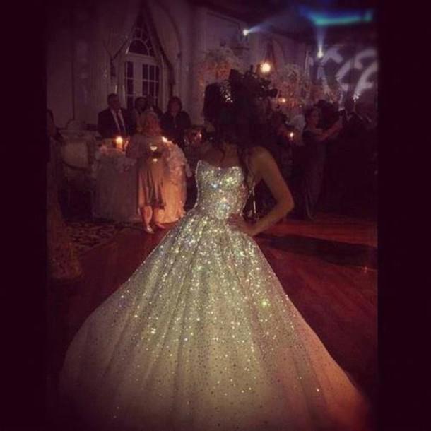 dress, white dress, perfect dress, sparkle, wedding dress, glitter ...