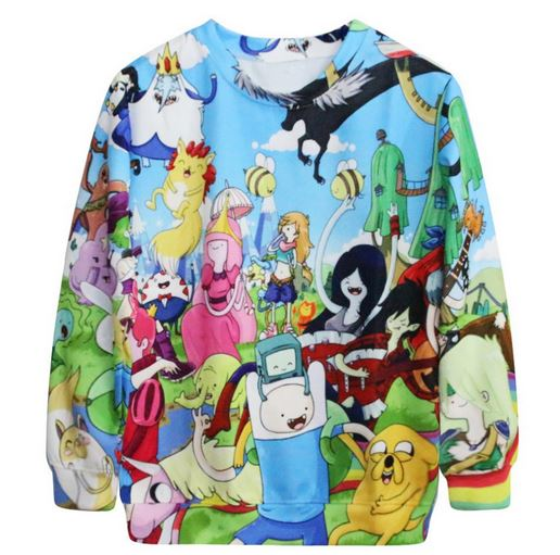 Adventure time 'lets party' sweatshirt from tumblr fashion on storenvy