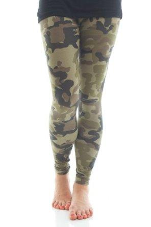 Ragstock Women's Cotton Blend Camo Leggings at Amazon Women's Clothing store: