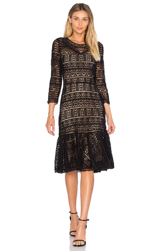 dress lace dress long lace black