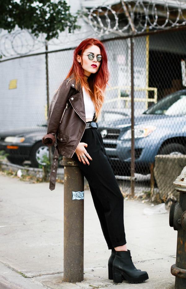 le happy blogger top jacket shoes
