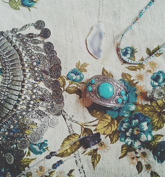jewels bracelets blue aqua silver boho hipster fashion style turquoise