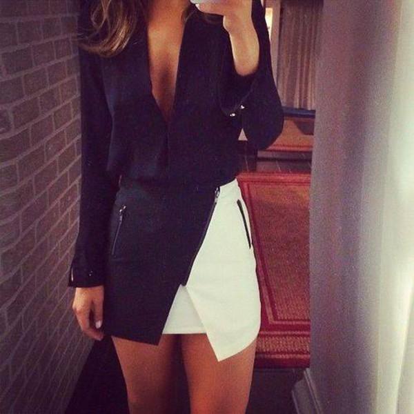 skirt black and white skirt black and white