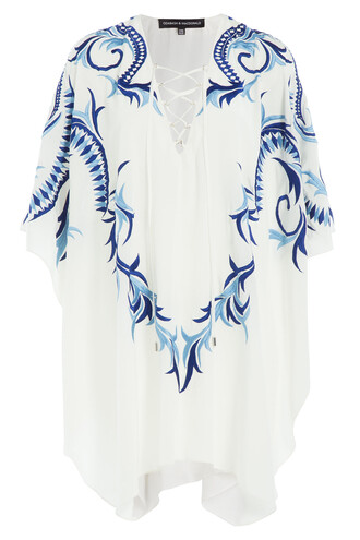 embroidered silk white top