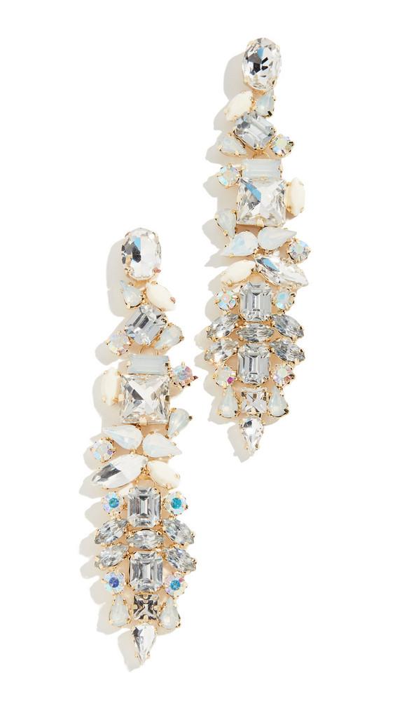 Stella + Ruby Stella + Ruby Crystal Drop Earrings in gold