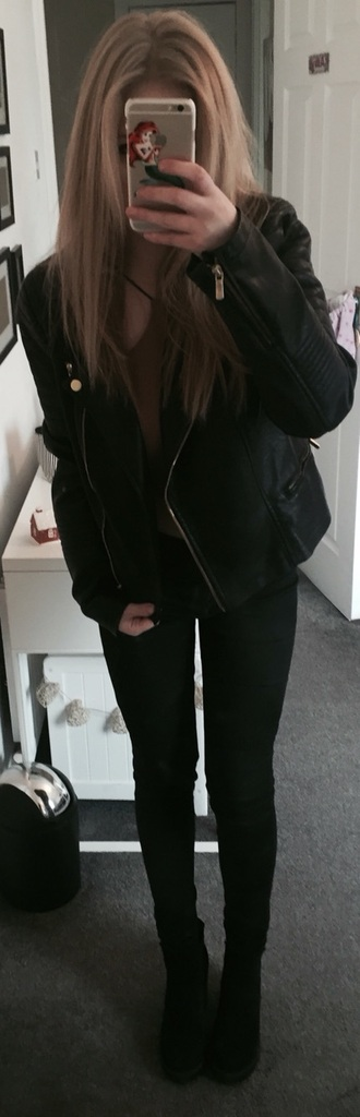 jacket outfit topshop missguided high heels leather jacket bitch clothes high waisted jeans crop tops boots phone cover tumblr tumblr outfit tumblr clothes tumblr jacket