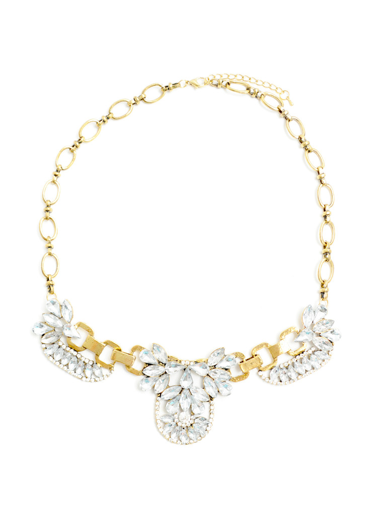 Crystal Goddess Necklace - Gold - Bangled
