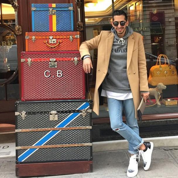 coat wool menswear menswear camel beige