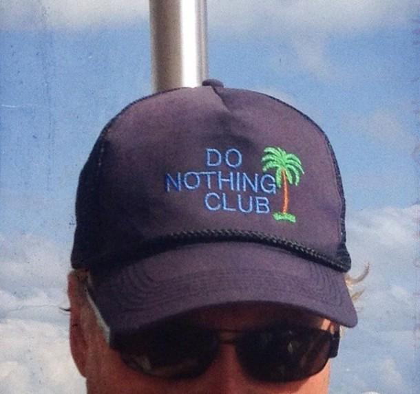hat blue black green brown style fashion palm tree print