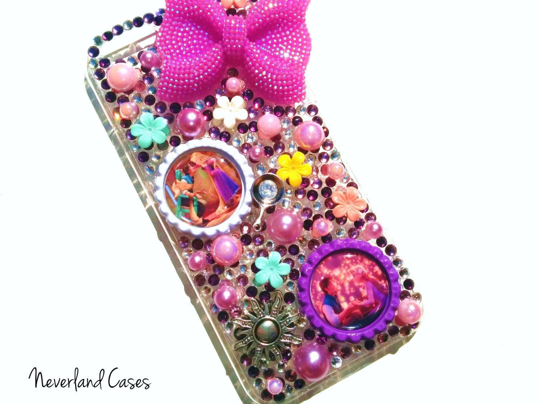 Ready to ship rapunzel iphone 6 disney tangled princess phone case iphone 6 case phone cover bling rhinestone