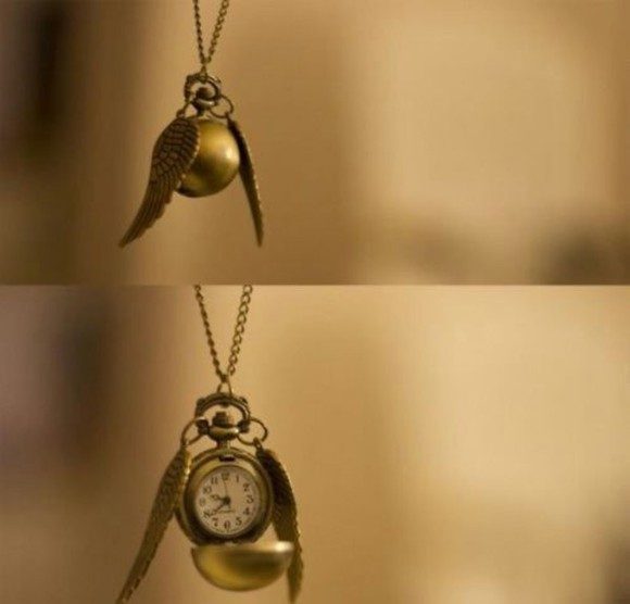 harry potter jewels necklace golden snitch