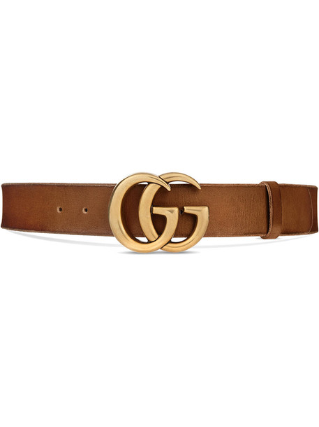 gucci metal women belt leather brown