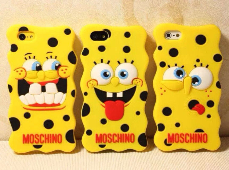 new style a87da 096f3 New SpongeBob Phone Cover Soft Moschino iPhone 4/4s iPhone 5/5s Phone Case