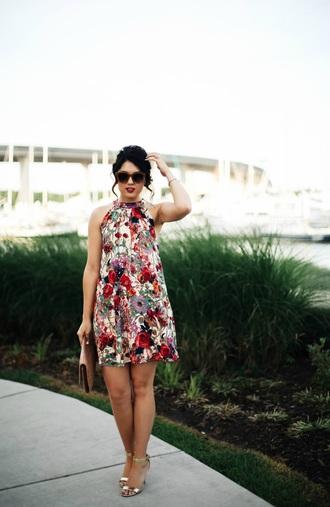 life & messy hair blogger dress bag jewels sunglasses shoes