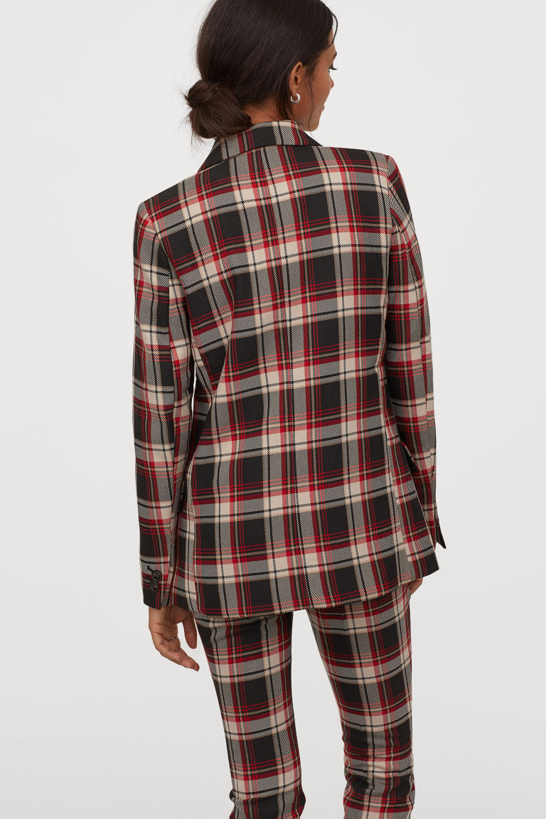 Jacket - Black/Red checked - Ladies | H&M GB