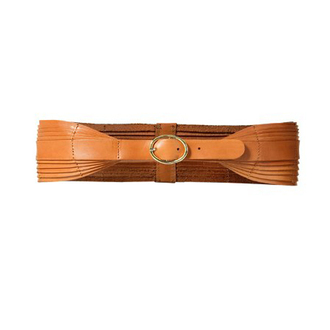 leather orange belt brown belt belt