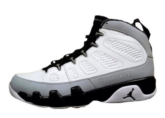 shoes grey shoes barons jordans jordan shoes white, black, grey,jordans,girls,high tops jordan's sneakers 9s
