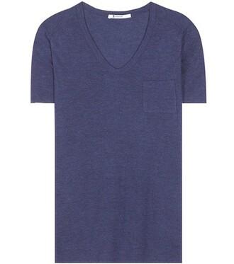 t-shirt shirt classic blue top